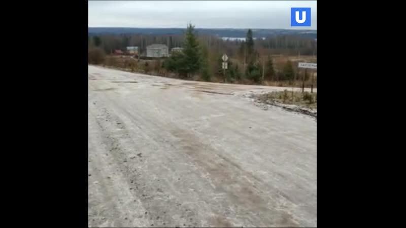 Пермские дороги покрылись ледяной коркой