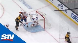 Semyon Varlamov Robs Anders Bjork With A Sprawling Glove-Save