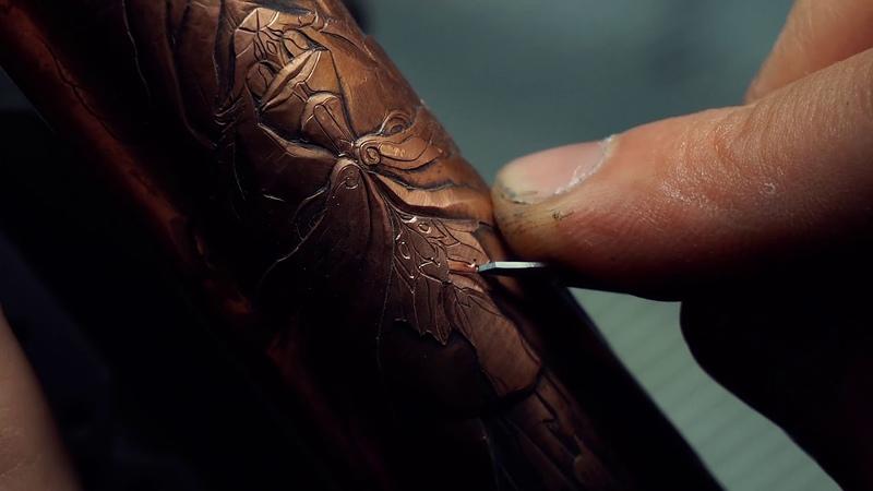 Ручная гравировка штихелем Процесс