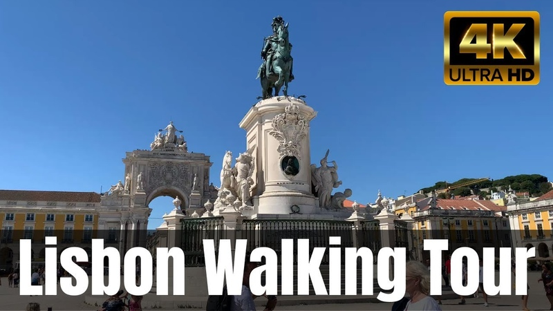 4K Lisbon Walking Tour From Downtown to the Highest Viewpoint in Town