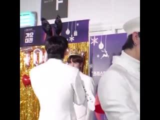 How soobin didn't even seen taehyun there and he startled seeing him lmaooooooooo