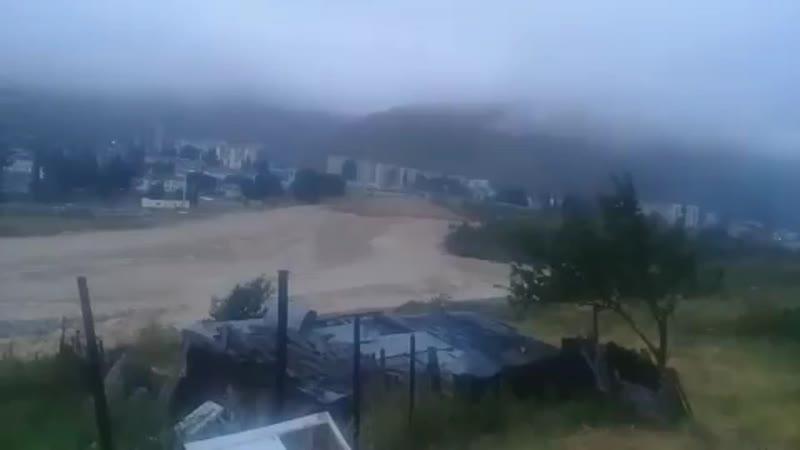 Сход селевого потока в районе города тырныауз кабардино балкария 15 08 2017
