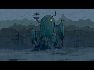 Adventure time rain tree house fort