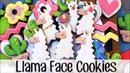 How To Make Decorated Llama Head Sugar Cookies
