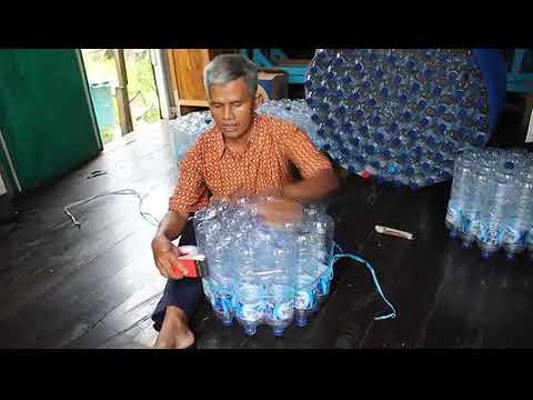 .ALFA GAMA : Membuat kursi dan meja dari botol / TUTORIAL MAKE CHAIRS FROM BOTTLE