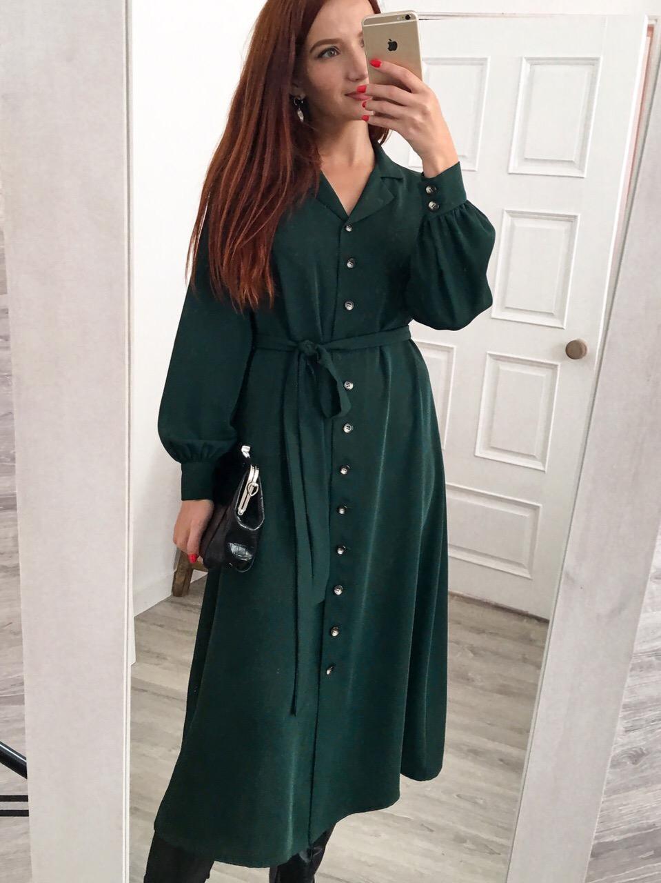 Струящееся платье с английским воротником - стильное прочтение традиционного платья-рубашки  Элегантно и лаконично, на каждый день!
