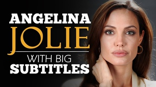 LEARN ENGLISH   ANGELINA JOLIE: What We Stand For? (English Subtitles)