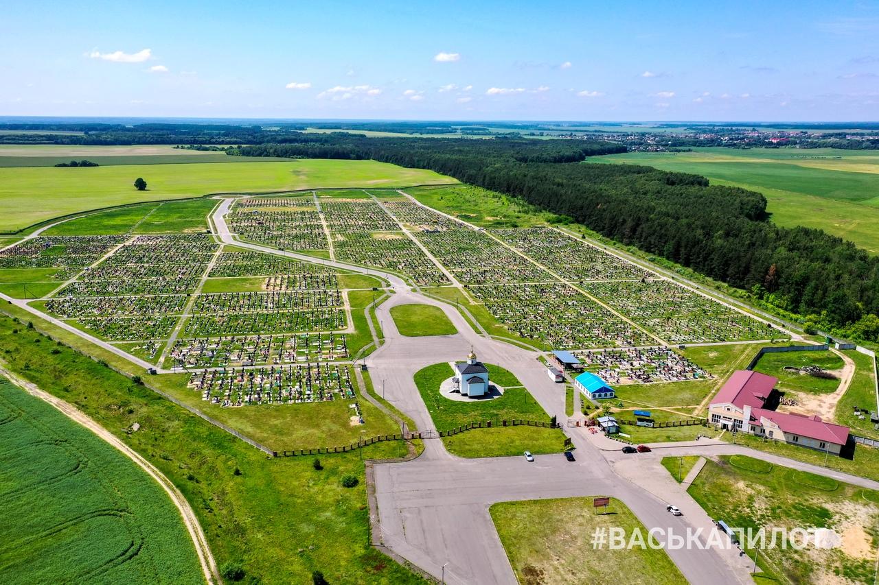 Кладбище Северное с высоты птичьего полёта
