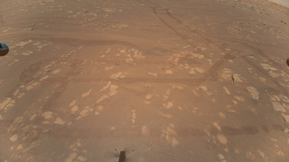 Helicopter Ingenuity's first aerial color 4K photo of Mars