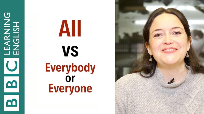 What's the difference between 'all' and 'everybody' or 'everyone' English In A Minute