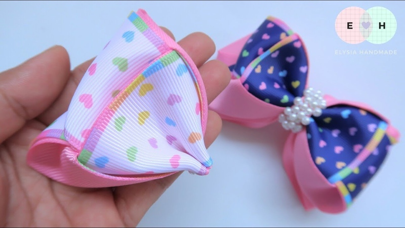 Amazing Ribbon Bow Hand Embroidery Works Ribbon Tricks Easy Making Tutorial 95