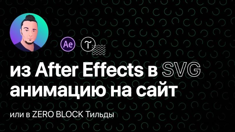 Как добавить анимацию из After Effects на любой сайт SVG Lottiefiles html Tilda Zero block