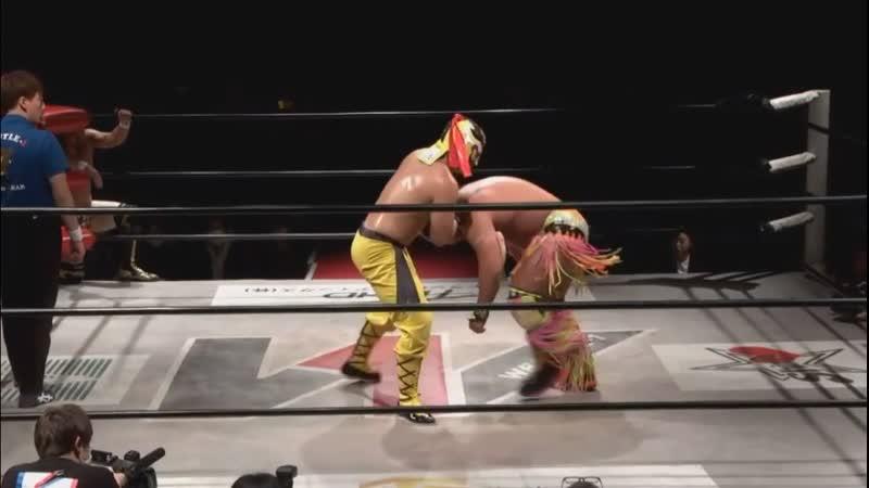 Kaz Hayashi, Masayuki Kono Shuji Kondo vs. Andy Wu, Daiki Inaba Seiki Yoshioka