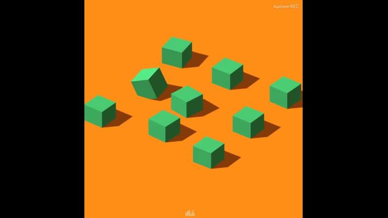 Аудио визуалайзер в виде кубиков