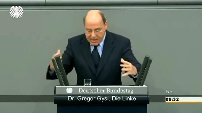 Выступление в Бундестаге лидера Левых Грегора Гизи (13.03.14) полная версия на р