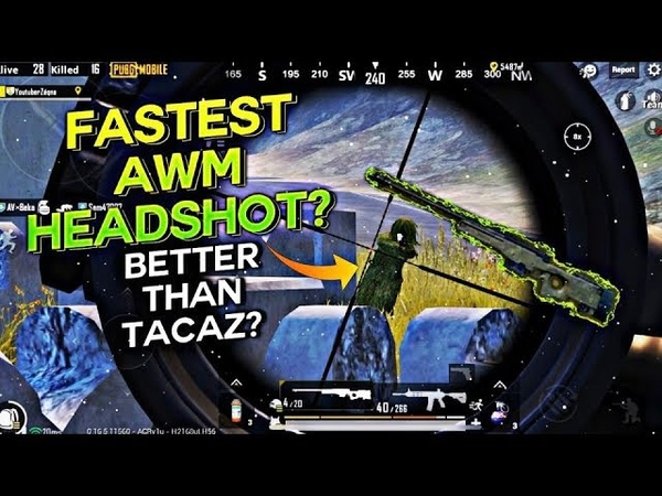 Better Than TACAZ The FASTEST HEADSHOT by AWM PUBG MOBILE