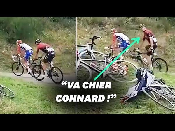 Route d'Occitanie Chris Froome répond aux sifflets d'un spectateur en pleine course