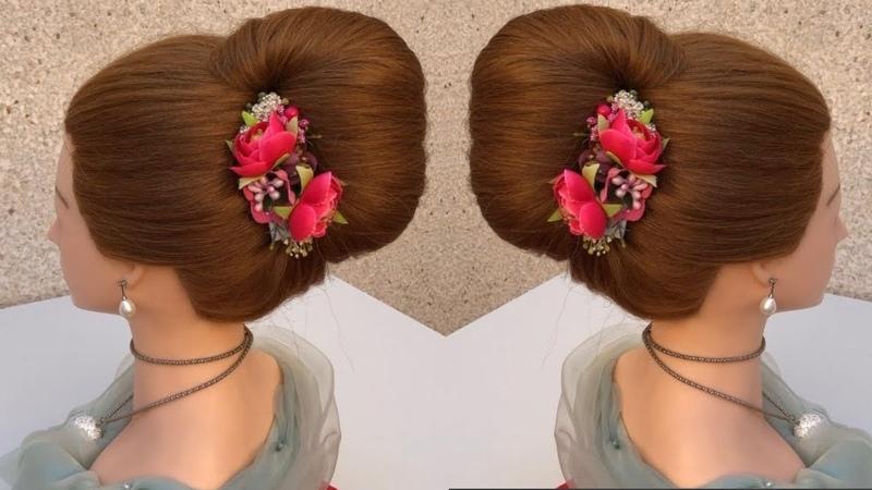Bun hairstyle || bridal hairstyle || prom hairstyle || wedding updo | wedding hairstyle