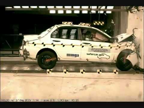 Краш тест Mitsubishi Lancer IX 2006 Frontal Impact NHTSA