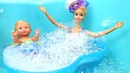 Barbie Baby and Barbie at the Swimming Pool Jacuzzi and Waterslide