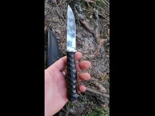 Нож Грибник Х12МФ, граб, камень
