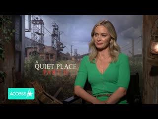 Эмили Блант для Access Hollywood: Пресс-тур Тихого места 2