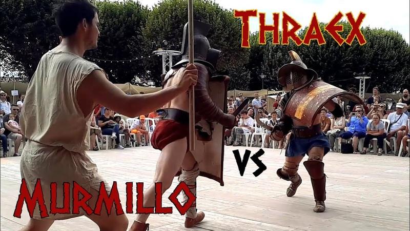 Gladiator Fight Thraex VS Murmillo ACTA Ancient Roman HEMA