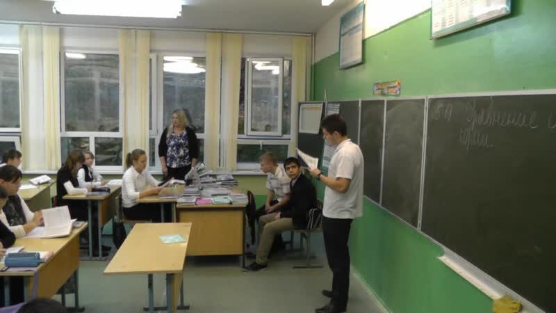 2012.10.05 День Учителя Уроки 7 Б