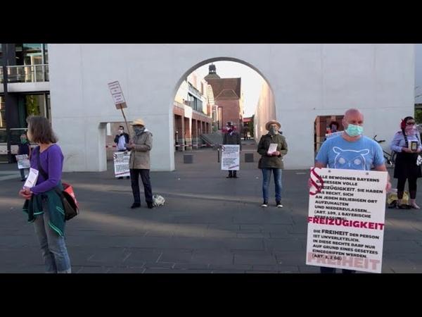 Nürnberg Demonstration gegen Einschränkungen der Grundrechte aufgrund Corona Maßnahmen