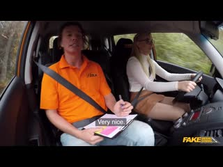 [FakeDrivingSchool] Amaris — Blonde learner with perfect boobs