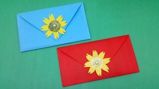 Very Easy & Simple Envelope Making With Color Paper | Origami Envelope | DIY Homemade Envelope