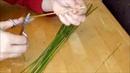 Обработка соломки холодным способом.Treatment of straw with no iron