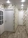 Ремонт коридора в 2-х комнатной квартире 5-тиэтажного дома 26/06. Наливной пол, подготовка стен, натяжные потолки, поклейка обоев, настил линолеума, установка дверей.