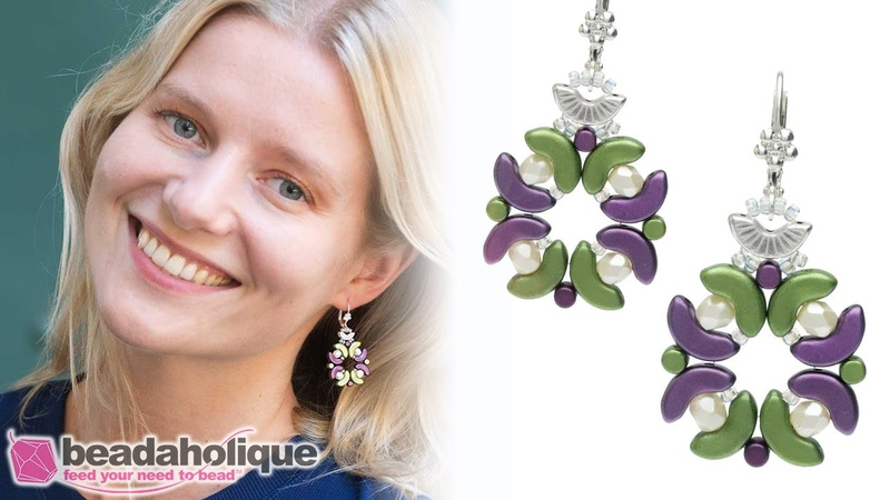 How to Make the Lucca Earrings featuring the Arcos and Minos par Puca Beads