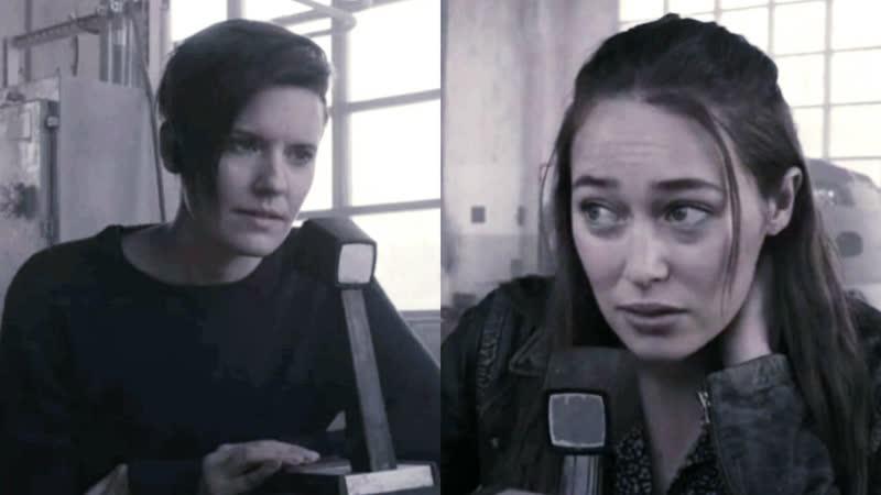 Бойтесь ходячих мертвецов 5 сезон 8 серия Алиша Кларк и Алфия