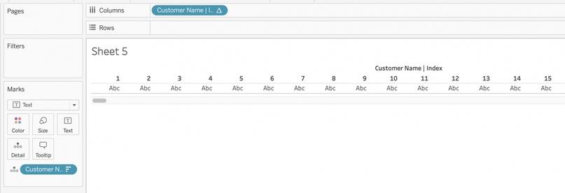 Табличные отчеты в Tableau. Часть 2. Нумерация страниц, изображение №6