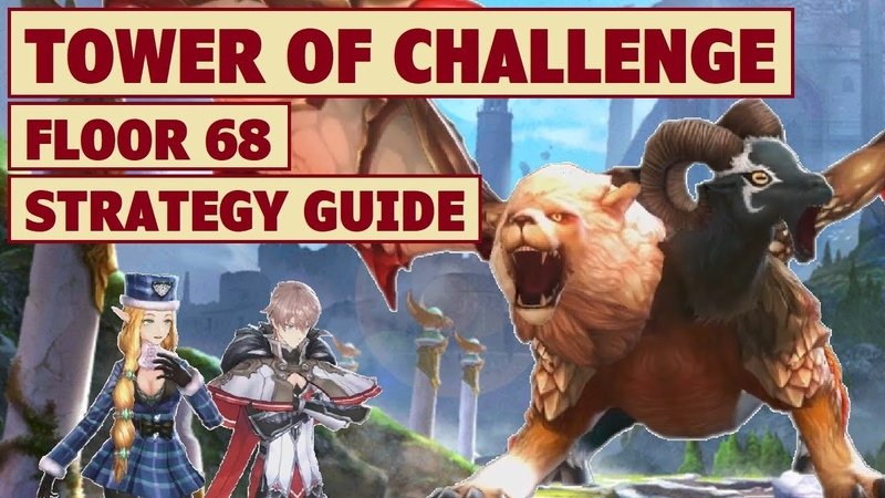 King's Raid - Tower of Challenge Floor 68 Strategy Guide Sample Team Showcase