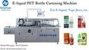 Automatic 10ml E liquid Bottle Cartoning Machine with Instruction Paper Folding Inserting Device
