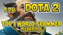 Top 1 World Kunkka Spammer 3700 Matches Dota 2 7 24 MAG NUM Gameplay POV
