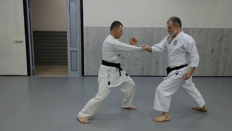 Mae geri keage with sensei Dormenko Andrey 8 Dan ISKF Lessons at the Dojo