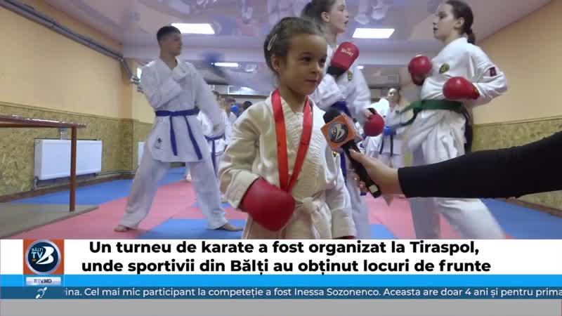Un turneu de karate a fost organizat la Tiraspol, unde sportivii din Bălți au obținut locuri de frunte