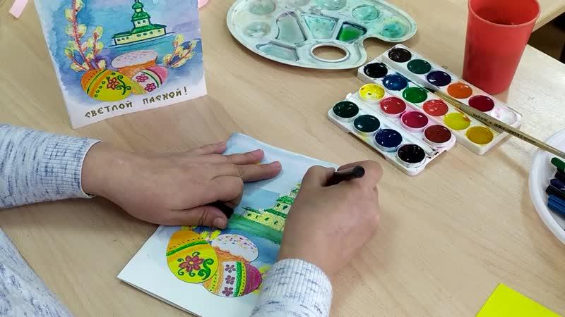 Педагог Центра детского творчества г Чебоксары Ионова Зоя Пасхальная открытка своими руками Подарок к празднику