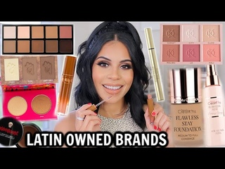 FULL FACE OF LATINA OWNED BEAUTY BRANDS! Amazing NEW Products 😍