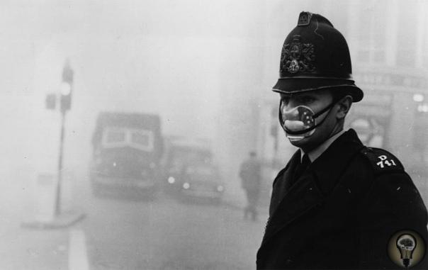 5-9 декабря 1952 г Лондон накрыл Великий смог. Это серьёзное загрязнение воздуха было вызвано сжиганием в огромных количествах угля и безветряной погодой. Погибло около 12 тыс. человек, больше