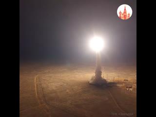 Запуск баллистической ракеты Тополь