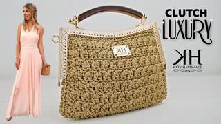 Tutorial pochette clic clac uncinetto - Luxury Crochet Clutch ♡ Katy Handmade