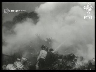 USA: Bomber crash in Seattle (1951)