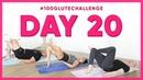 Day 20 Number 4 High Heel Bridge 100 Glute Challenge w Husky his trainer