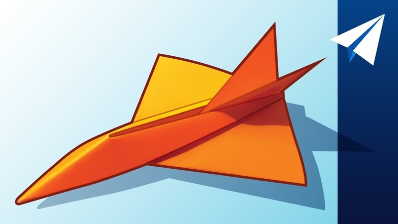 FLIES OVER 100 FEET How to Make a Jet Paper Airplane Diamondback Designed by Jayson Merill