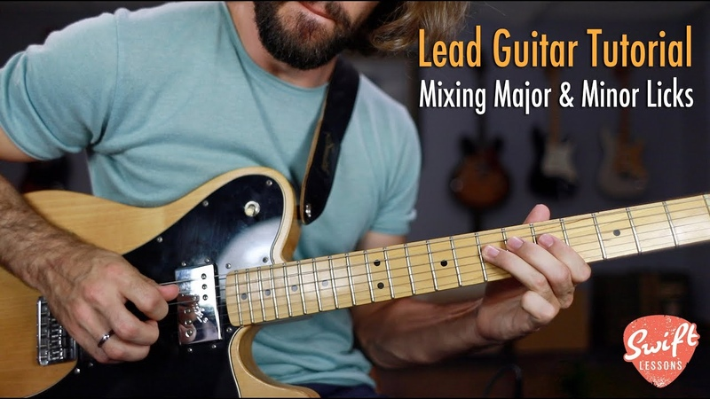How to Mix Major Minor Blues Licks SRV Inspired Lead Guitar Lesson